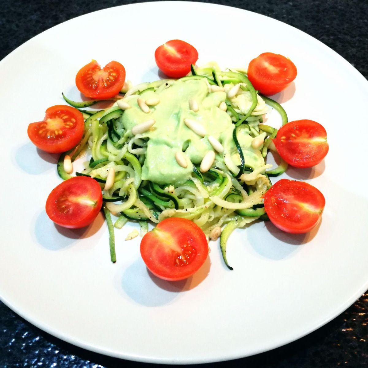 Image Result For Receta Espaguetis De Calabacin Con Pesto