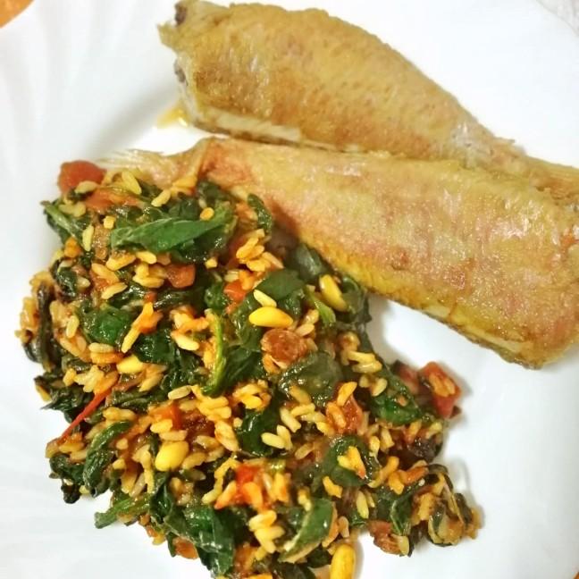 Salmonetes con arroz